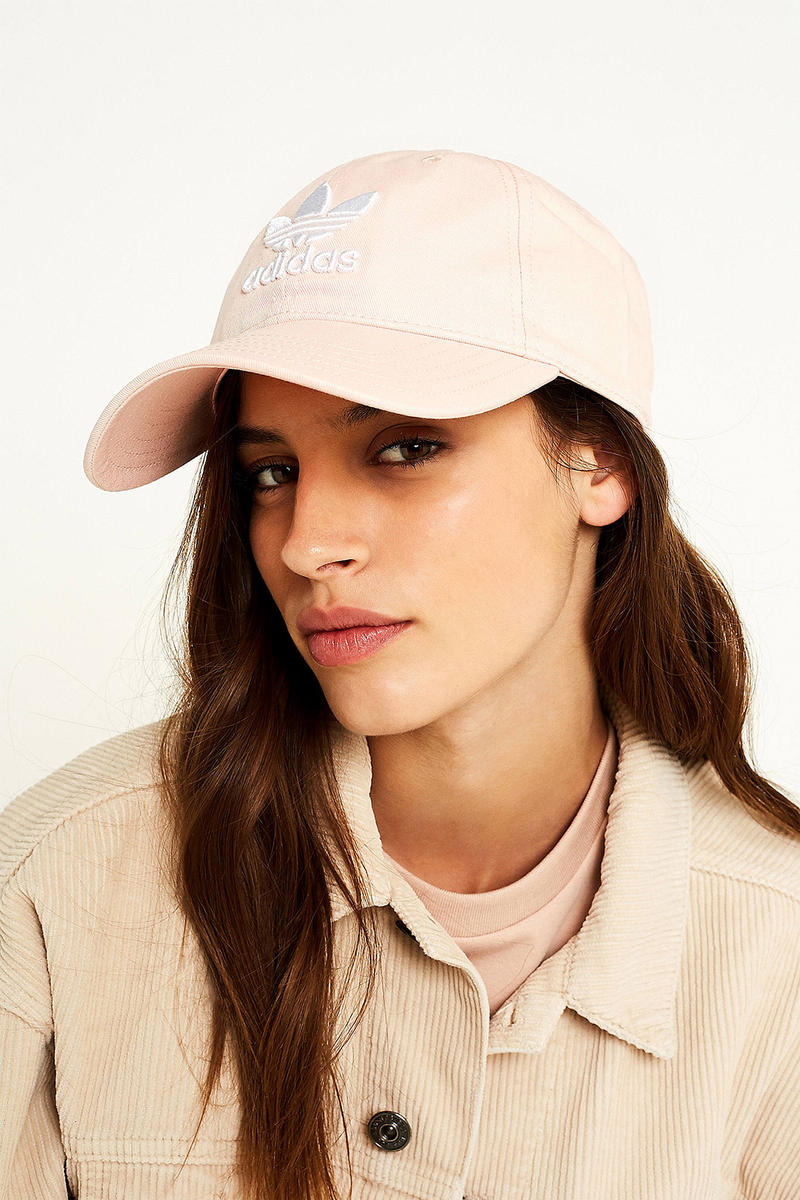 This Pastel Pink adidas Originals Logo Baseball Cap Is a Springtime  Essential 55e72ba74feb