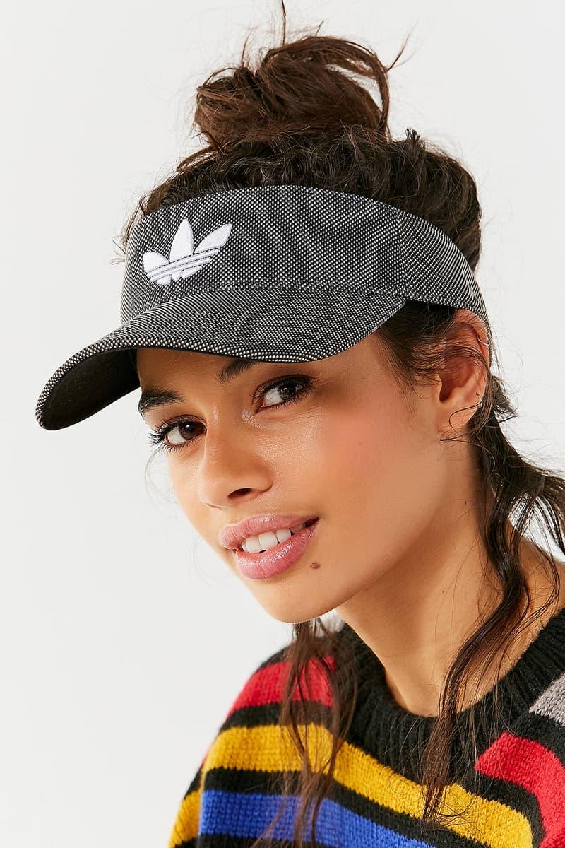 0f4c7f12 adidas Originals Trefoil Logo Visor Denim Black Grey Dark