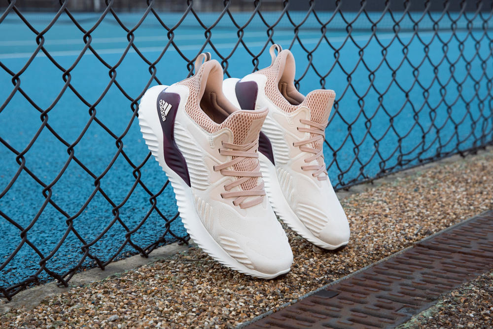 big sale b428f 19284 adidas Running AlphaBOUNCE Beyond Pink White Grey Colorway Caroline  Wozniacki Athletes Sports