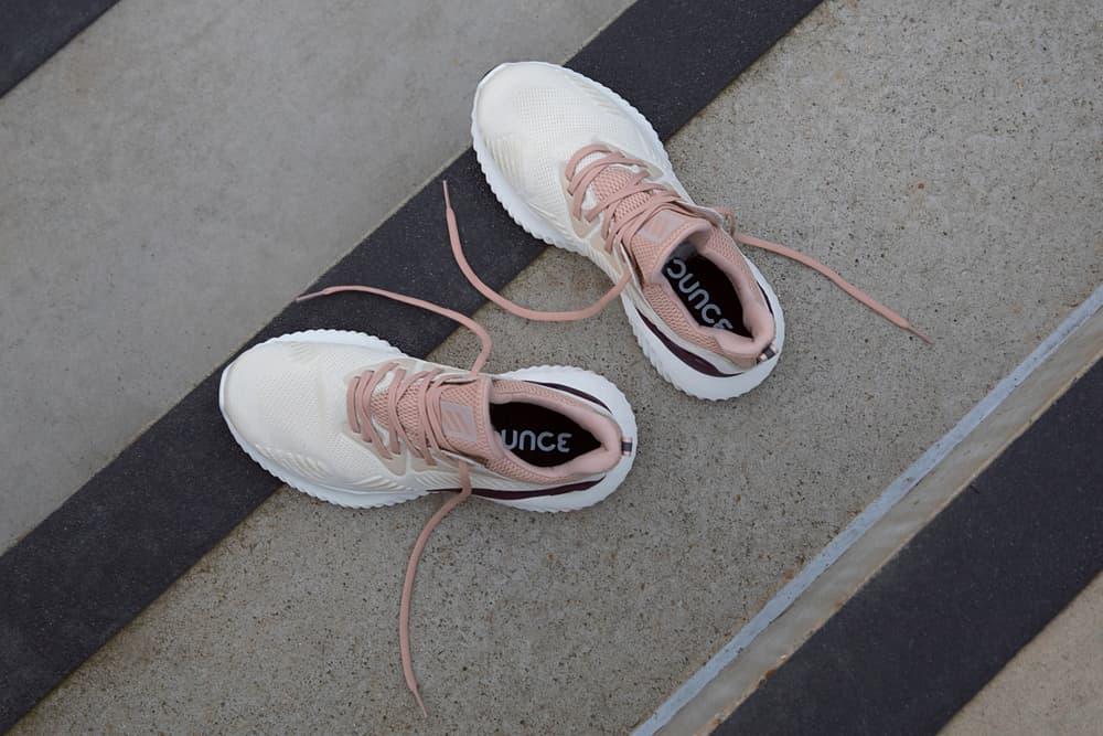 adidas Running AlphaBOUNCE Beyond Pink White Grey Colorway Caroline Wozniacki Athletes Sports