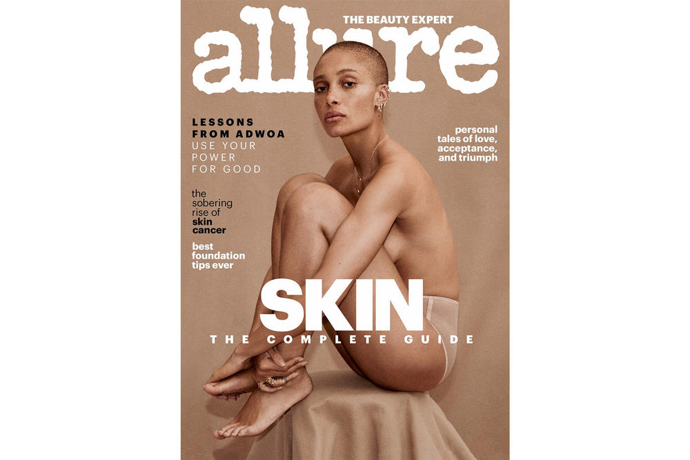 Adwoa Aboah Allure Magazine Cover April 2018 Model Editorial Interview British Mental Health Gurl's Talk