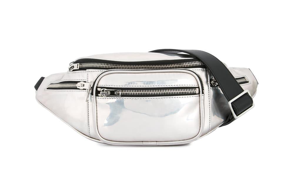 Alexander Wang Metallic Silver Attica Fanny Pack Mirror Shiny Belt Bag Bumbag Crossbody where to buy FARFETCH