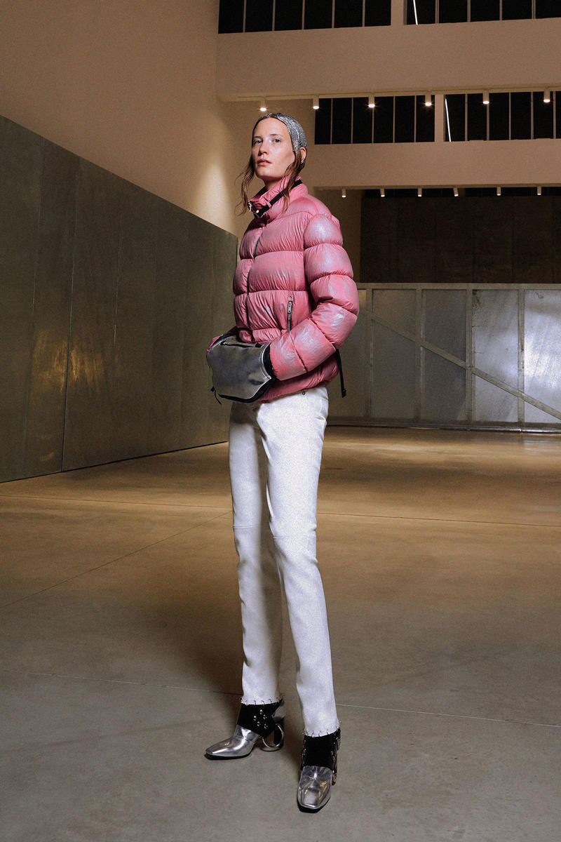 ALYX Fall 2018 Collection Puffer Coat Trouser Pink White
