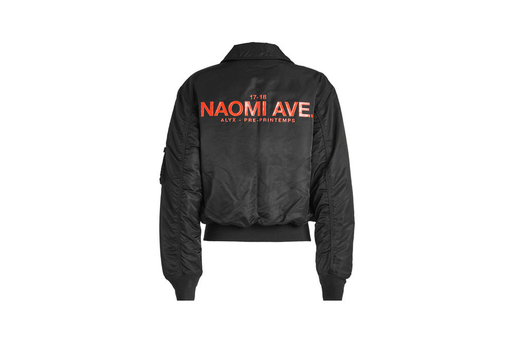 ALYX x Alpha Industries Naomi Ave Collection Pilot Bomber Jacket Black