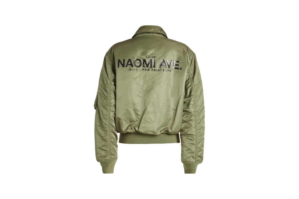 ALYX x Alpha Industries Naomi Ave Collection Pilot Bomber Jacket Sage Green
