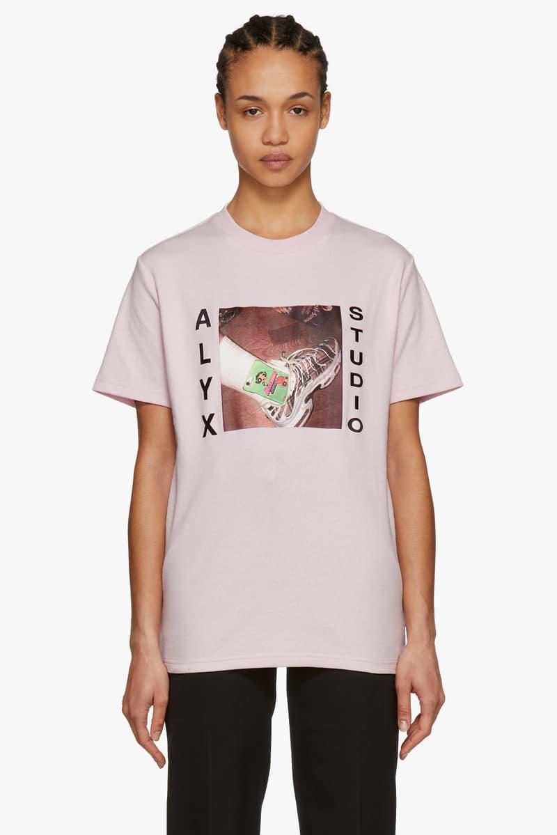 alyx pink shirt powerpuff girls cartoon network nike air max plus matthew williams front view