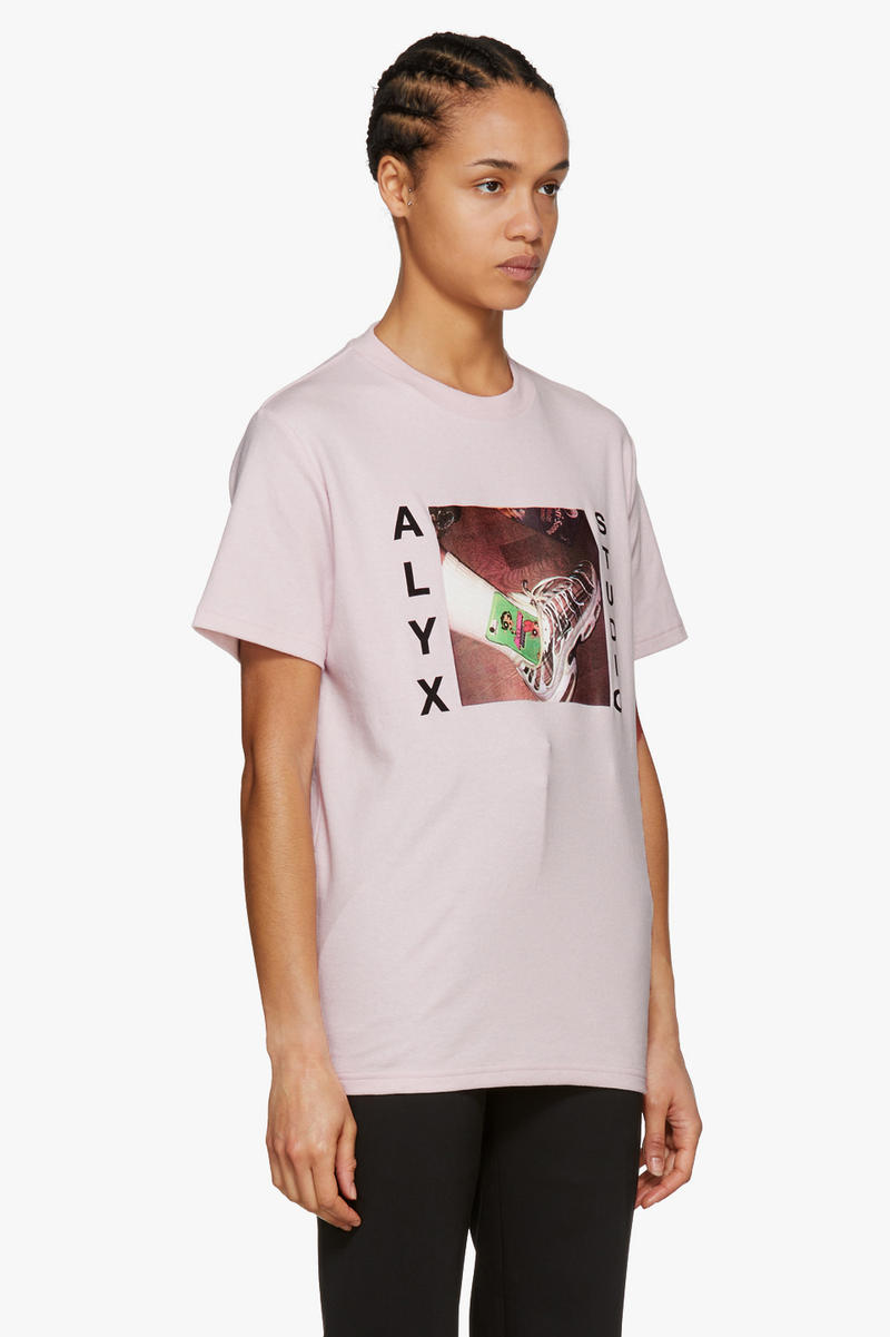 alyx pink shirt powerpuff girls cartoon network nike air max plus matthew williams side view
