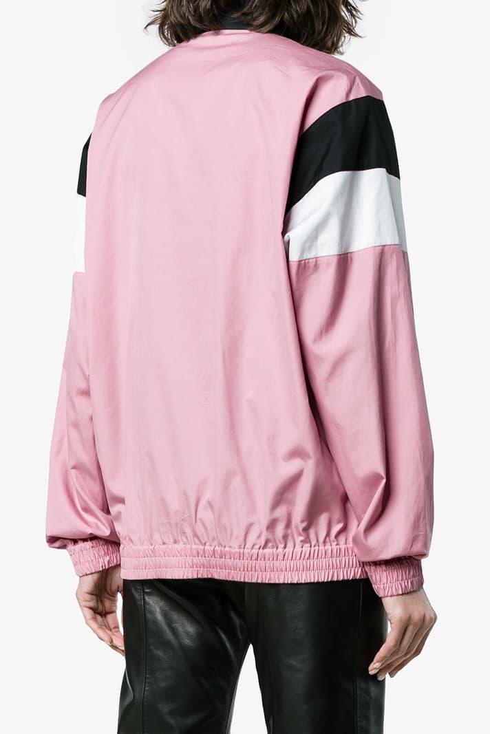 AMBUSH Millennial Pink Retro Athletic Track Jacket Retro '80s Women's Unisex Ladies Vintage Sportswear Athleisure where to buy Browns