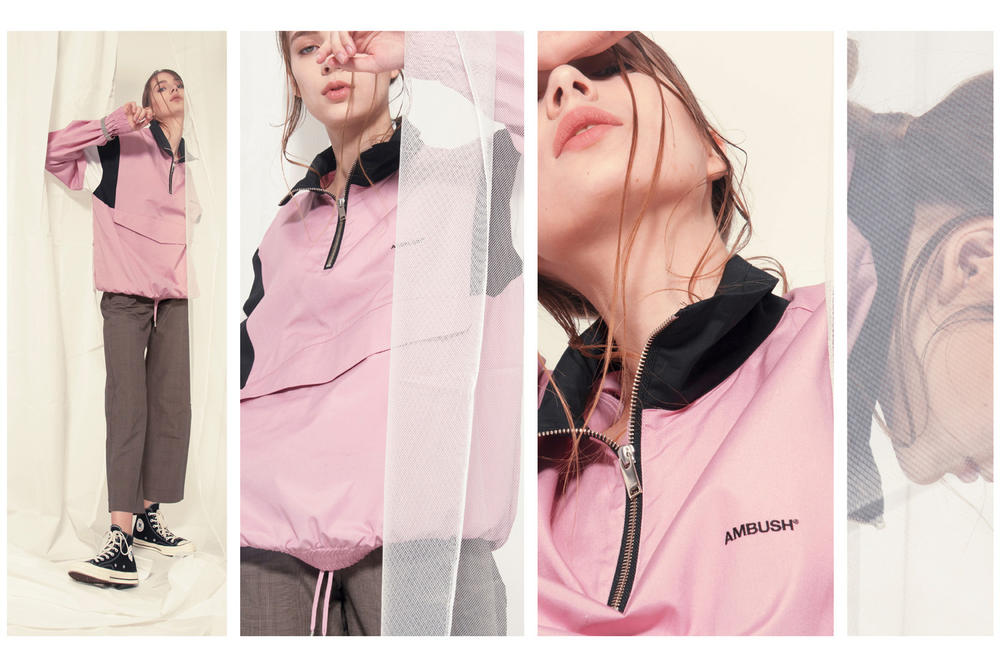 AMBUSH HBX HBXWM Editorial Track Shirt Jacket Pink