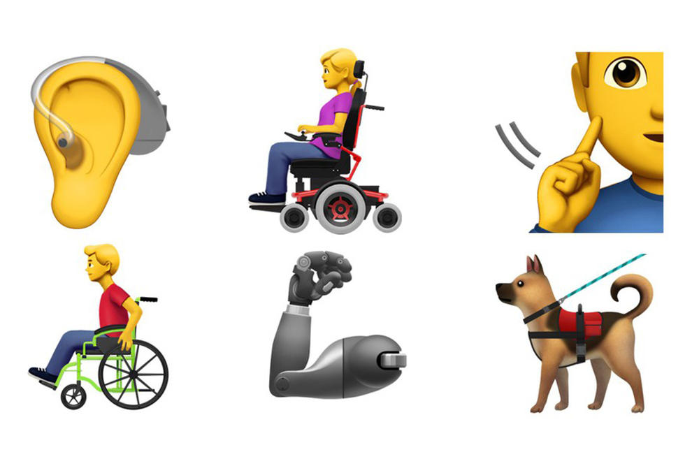 Apple Release Accessibility Emojis Disability Inclusive Deaf Blind PTSD Anxiety Autism Unicode Consortium Guide Dog March 2019 Release date info