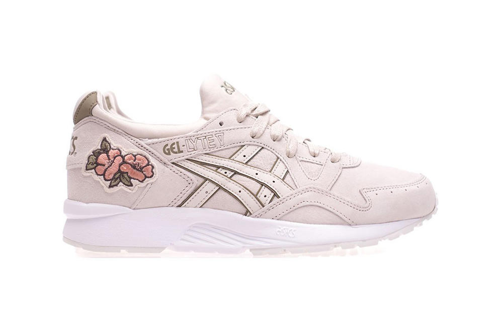 ASICS tiger GEL-lyte v iii sneakers womens mens unisex floral ikebana pack flower applique embroidery where to buy