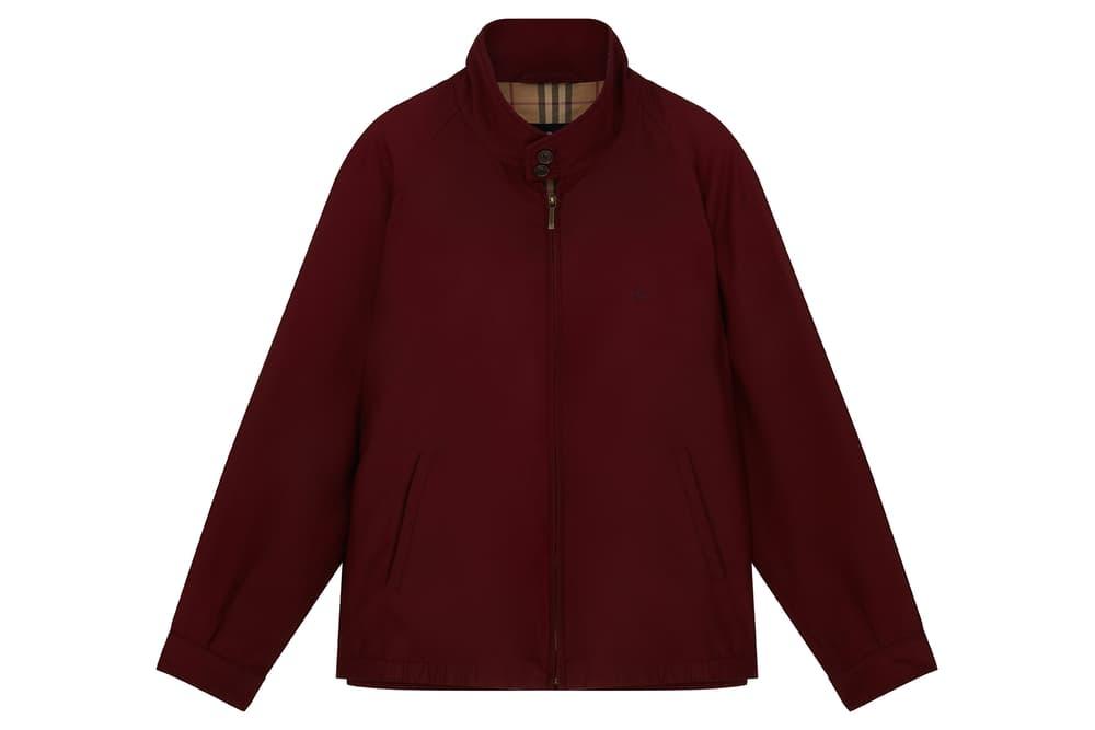 Burberry Harrington Vintage Jacket Burgundy Red Nova Check Pattern