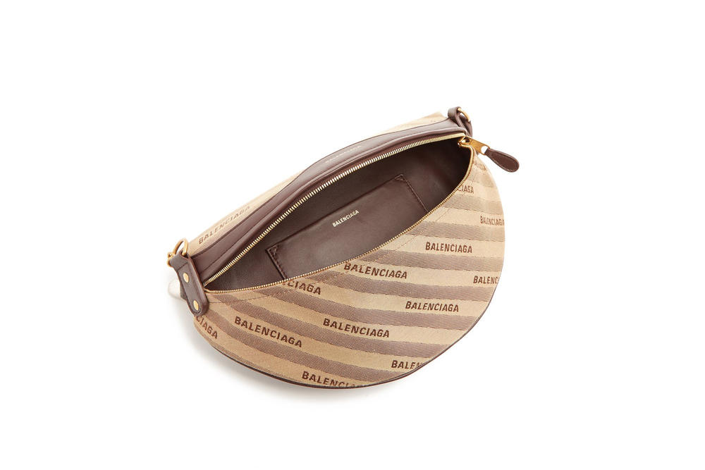 Balenciaga Paris Charm Souvenir Handbag Cross Body Strap Brown Grey Silver Eiffel Tower Spring Summer 2018
