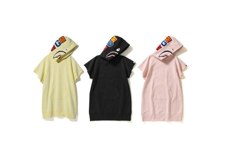 bape a bathing ape hoodie one piece womens exclusive yellow black pastel pink