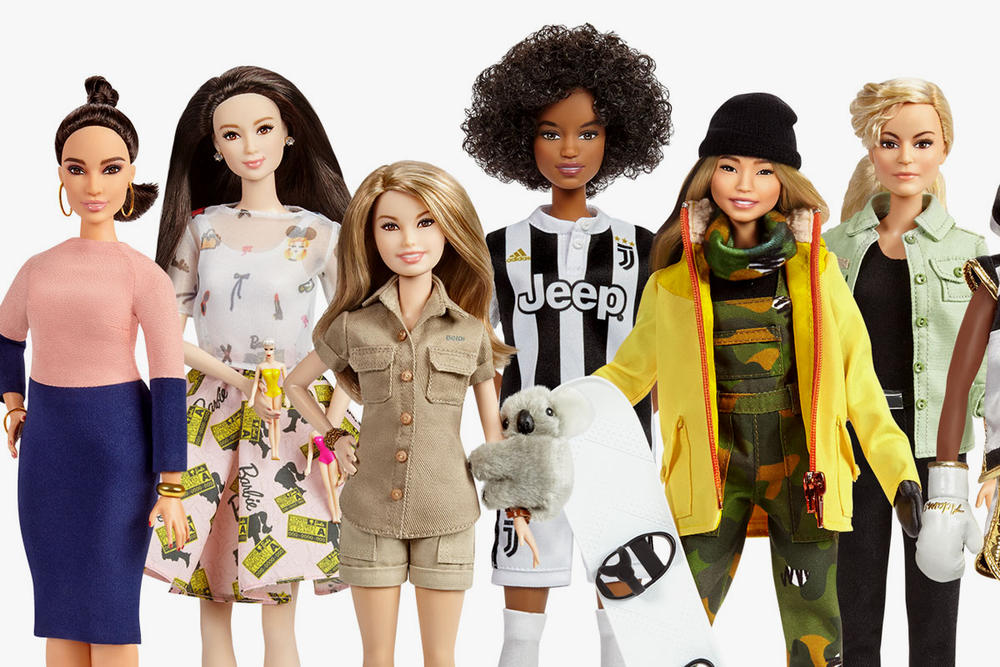 Barbie doll shero female role models international women's day 2018 chloe kim bindi irwin xiaotong guan sara gama Martyna Wojciechowska patty jenkins frida kahlo amelia earhart katherine johnson