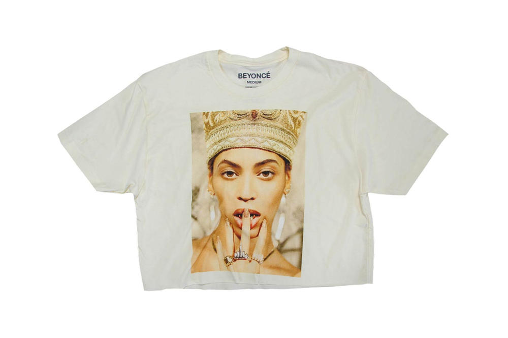 Beyonce Nefertiti Spring 2018 Merch Collection Crop Top Off-White