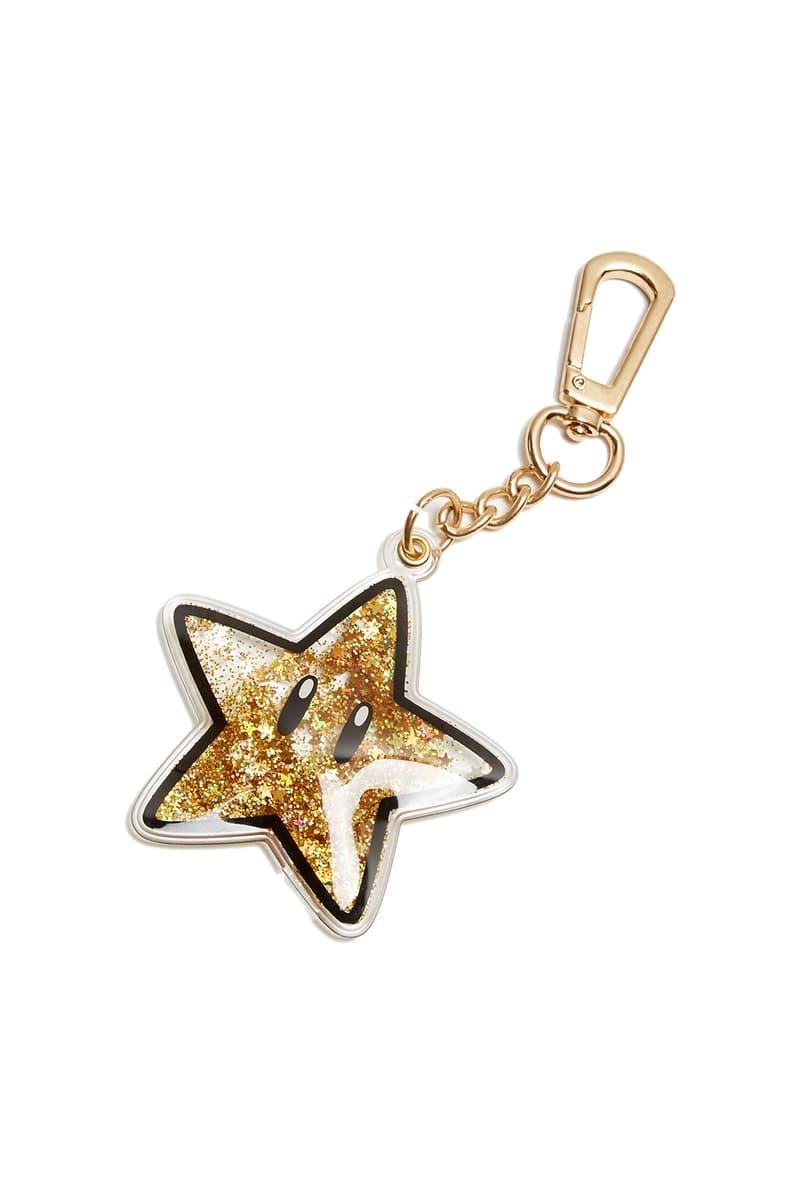 Bloomingdale's x Nintendo National Gamer Day Capsule Collection Skinnydip London Star Keyring Gold