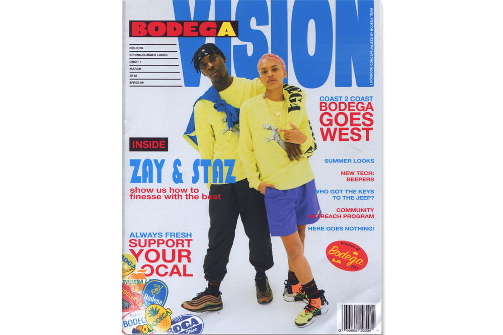 Bodega Spring/Summer 2018 Delivery 1 Lookbook Jacket Shorts Yellow Purple