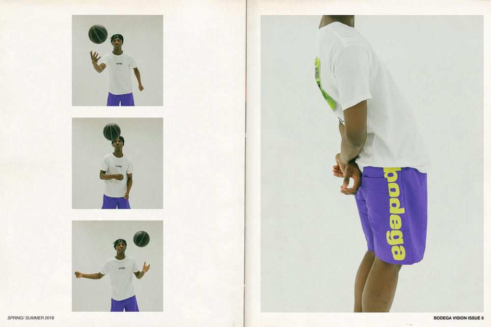 Bodega Spring/Summer 2018 Delivery 1 Lookbook Logo T-Shirt Shorts White Purple