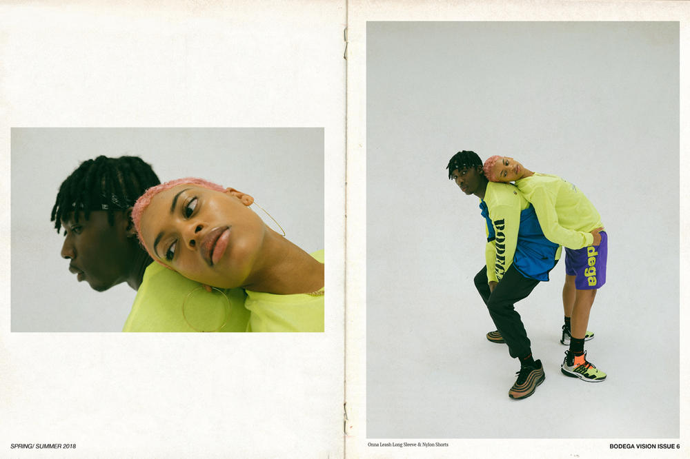 Bodega Spring/Summer 2018 Delivery 1 Lookbook Loongsleeve Shirts Shorts Yellow Purple Blue