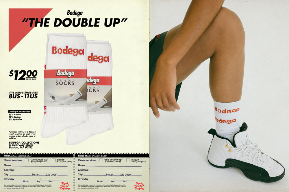 Bodega Spring/Summer 2018 Delivery 1 Lookbook Logo Socks White Red