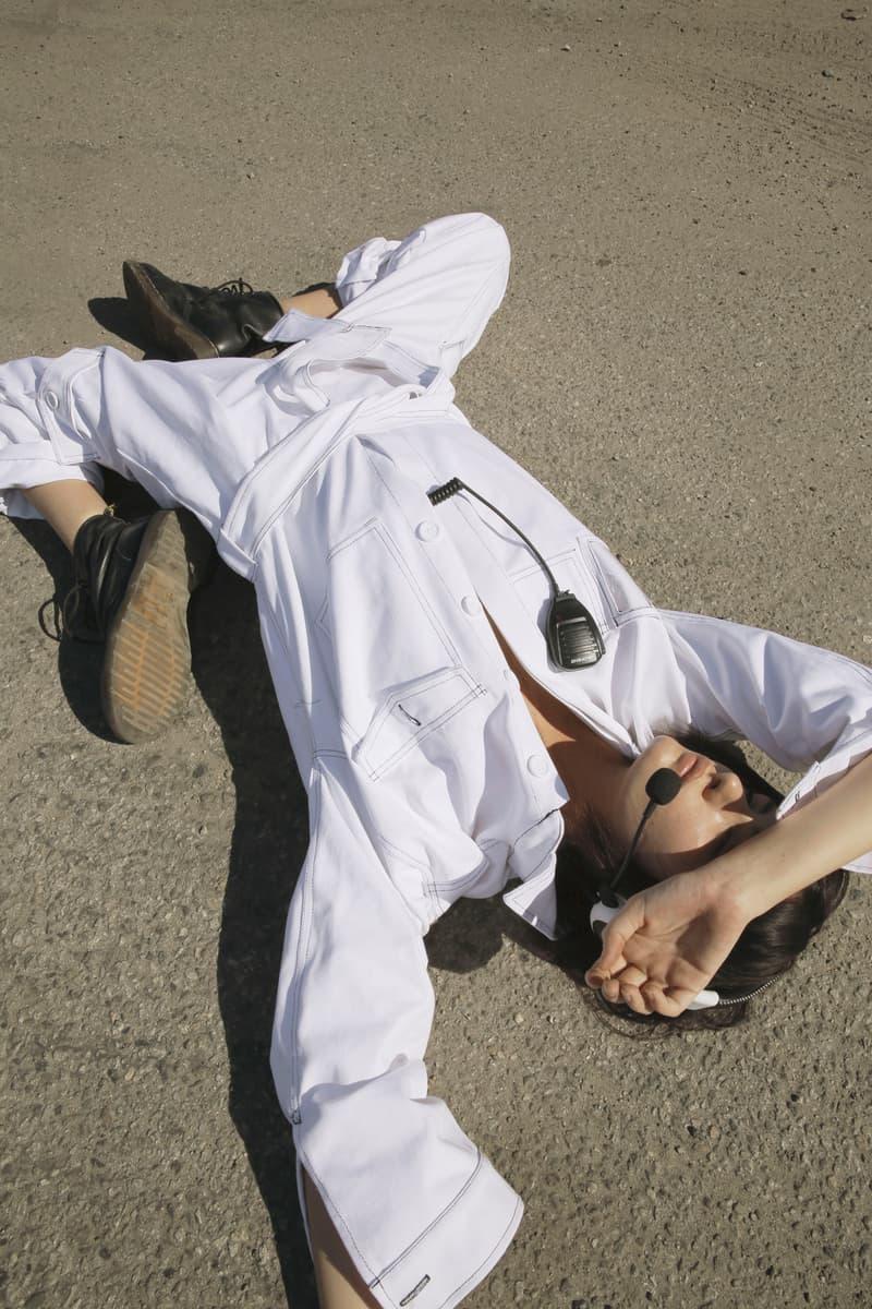 Brashy Studios Editorial Matrix 2000's Jumpsuit White