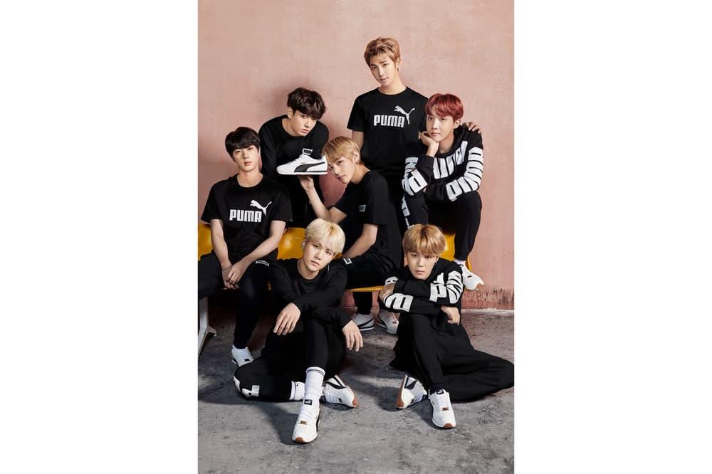 BTS PUMA Sportswear Campaign K-Pop Korea Group