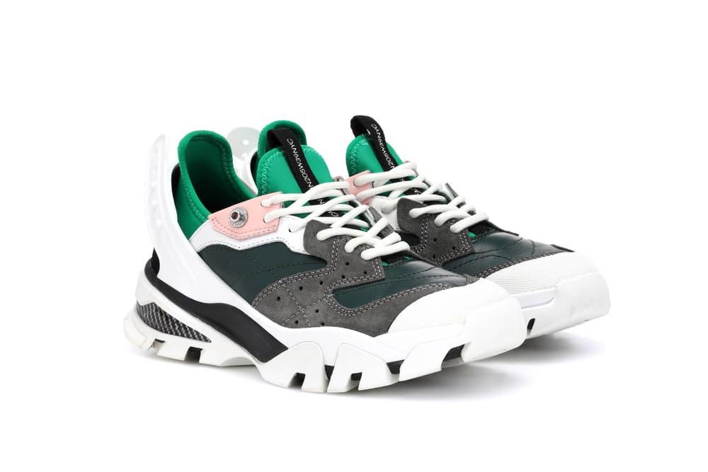 Calvin Klein Debuts the Chunky Carla Sneaker White Colorful Statement Footwear Raf Simons