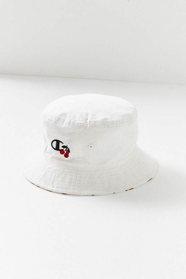 HVN Champion Cherry Reversible Bucket Hat White Red
