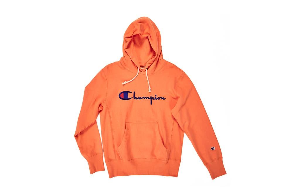 07cb4bd28d77 Champion Tie-Dye Orange Hoodies reverse weave multicolored script logo hoodie  sweatshirt where to buy
