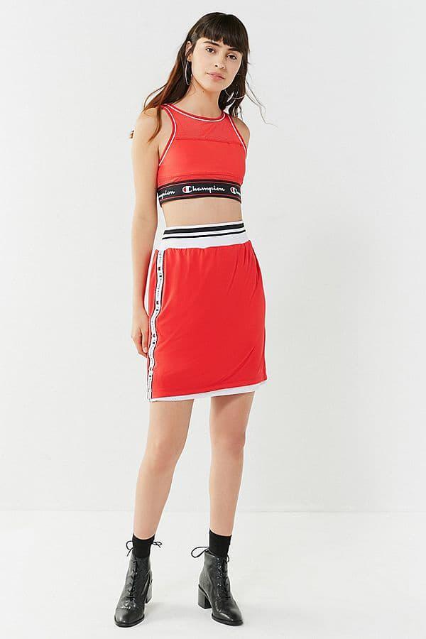 Champion Mesh Sports Bra Red Black Sportswear Athleisure