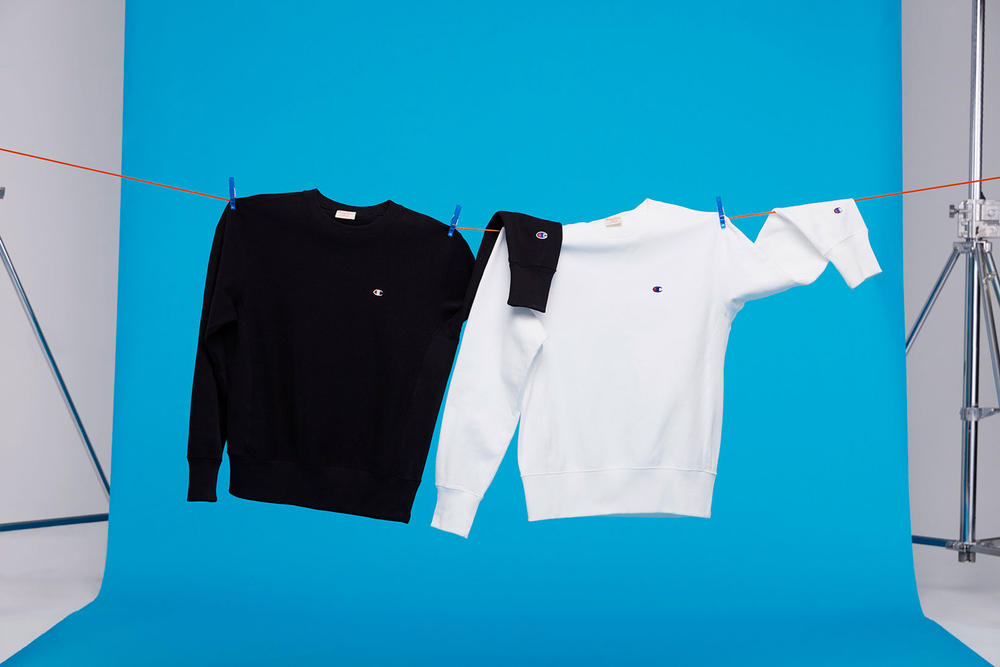 Champion Spring Summer 2018 Lookbook Sweatshirt Black White