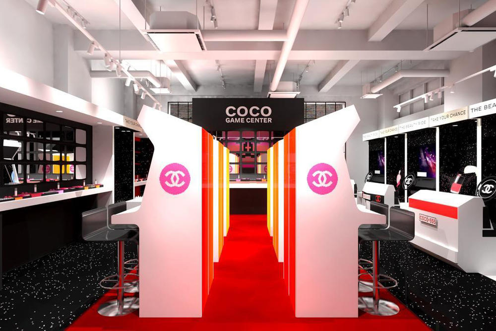 Chanel beauty Coco Game Center Arcade in Tokyo retro harajuku shibuya win products