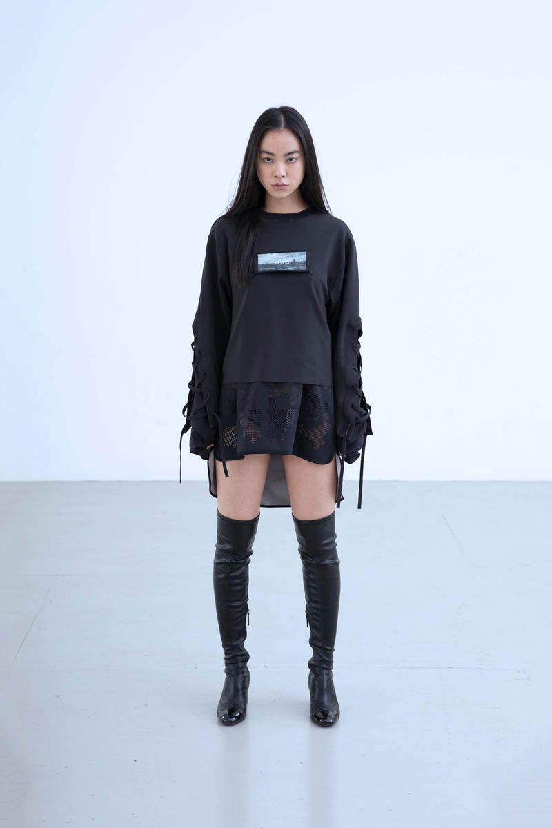 Charli Cohen Fall/Winter 2018 Collection Lookbook Longsleeved Shirt Black