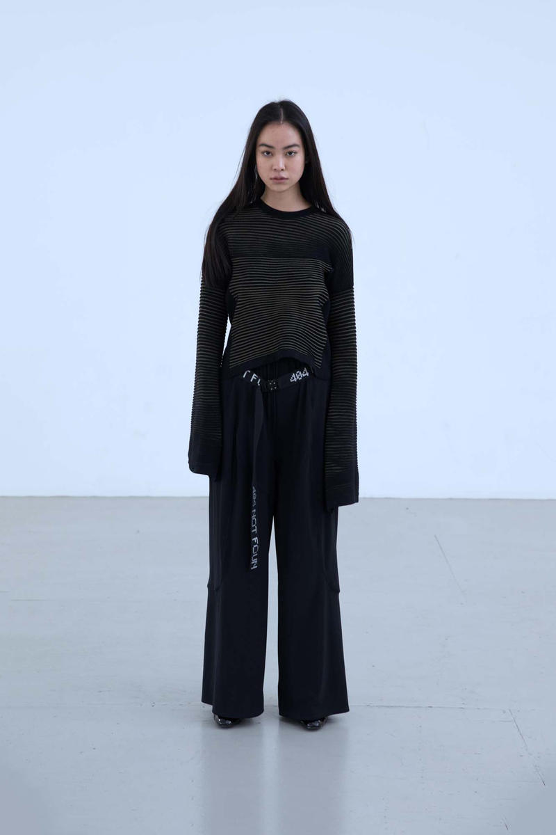 Charli Cohen Fall/Winter 2018 Collection Lookbook Longsleeved Shirt Pants Black