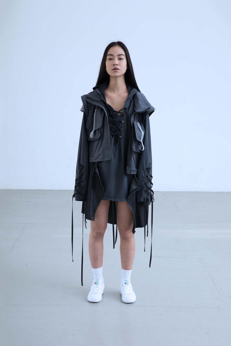 Charli Cohen Fall/Winter 2018 Collection Lookbook Convertible Parka Grey Black