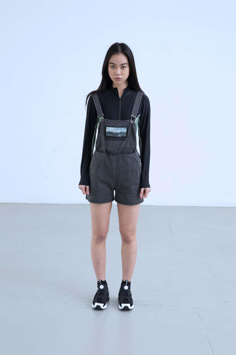 Charli Cohen Fall/Winter 2018 Collection Lookbook Overalls Longsleeved Shirt Grey Black