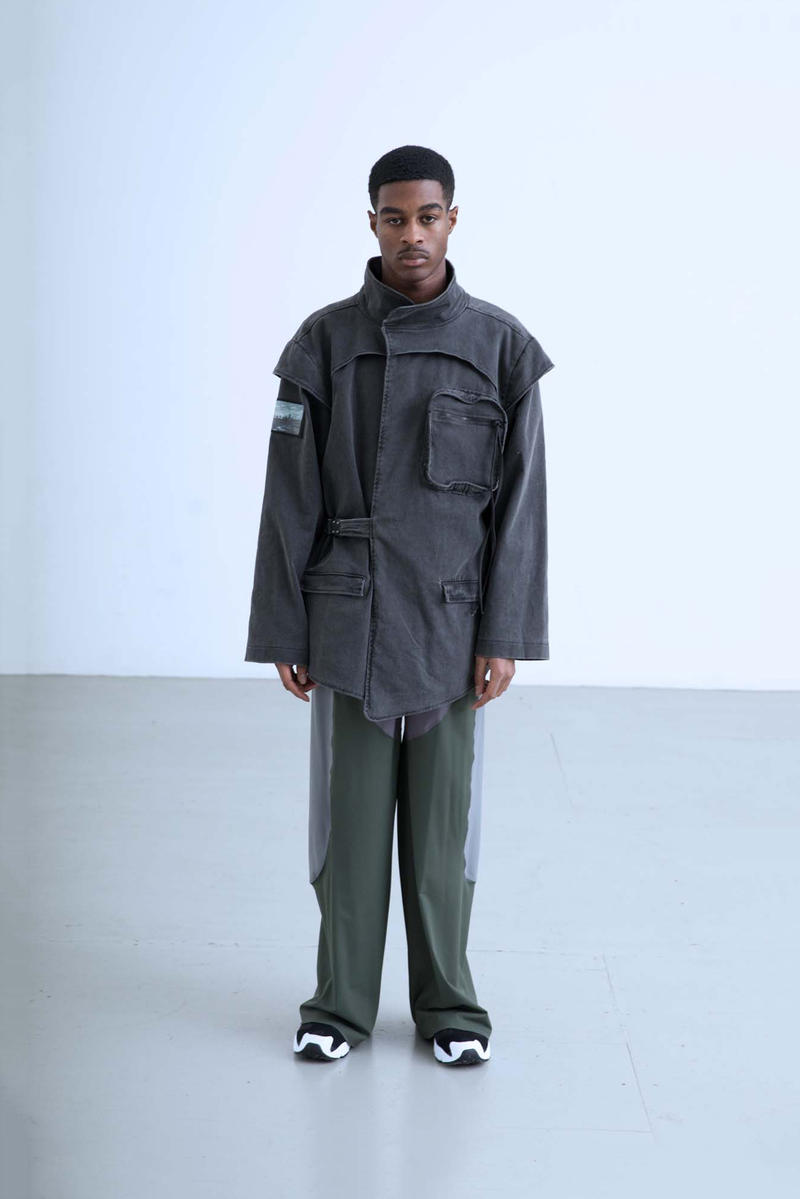 Charli Cohen Fall/Winter 2018 Collection Lookbook Convertible Parka Pants Grey Green