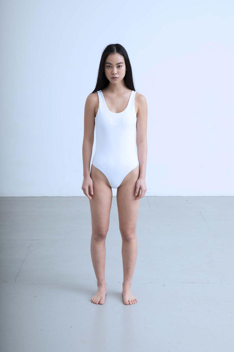Charli Cohen Fall/Winter 2018 Collection Lookbook One Piece Bathing Suit White