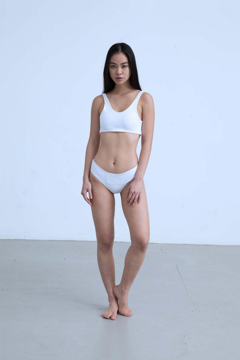 Charli Cohen Fall/Winter 2018 Collection Lookbook Sports Bra Underwear White