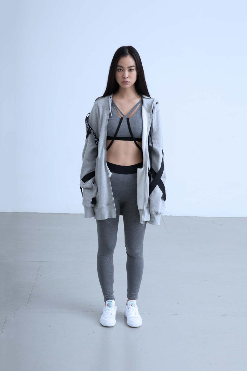 Charli Cohen Fall/Winter 2018 Collection Lookbook Convertible Parka Leggings Bra Grey Black