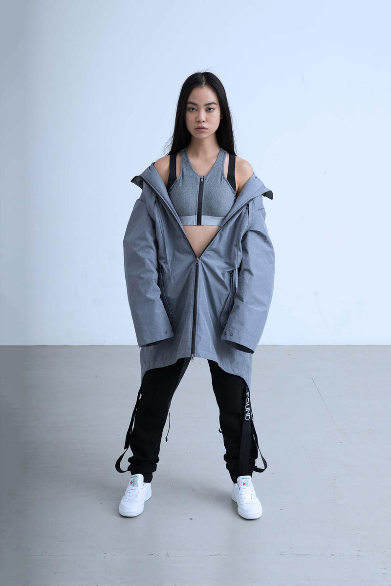 Charli Cohen Fall/Winter 2018 Collection Lookbook Convertible Parka Pants Grey Black