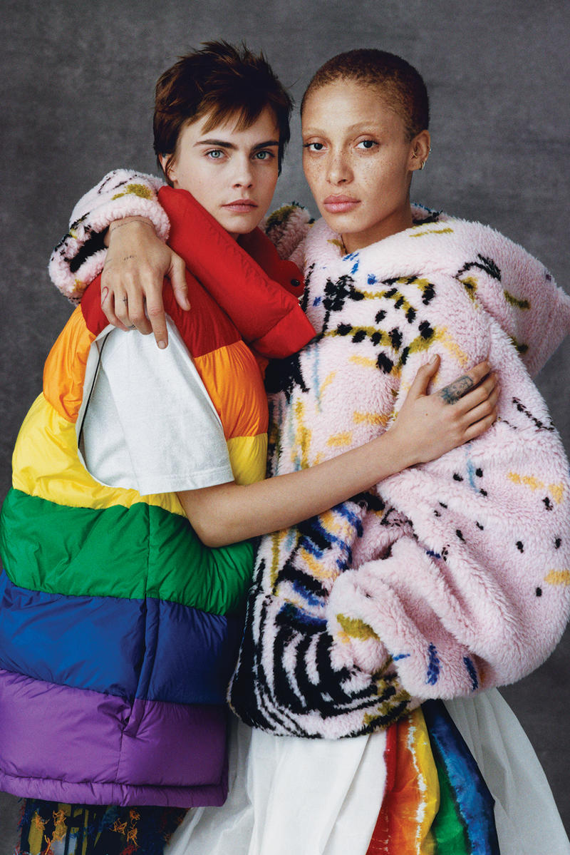 Adwoa Aboah Cara Delevingne burberry goodbye farewell Christopher Bailey
