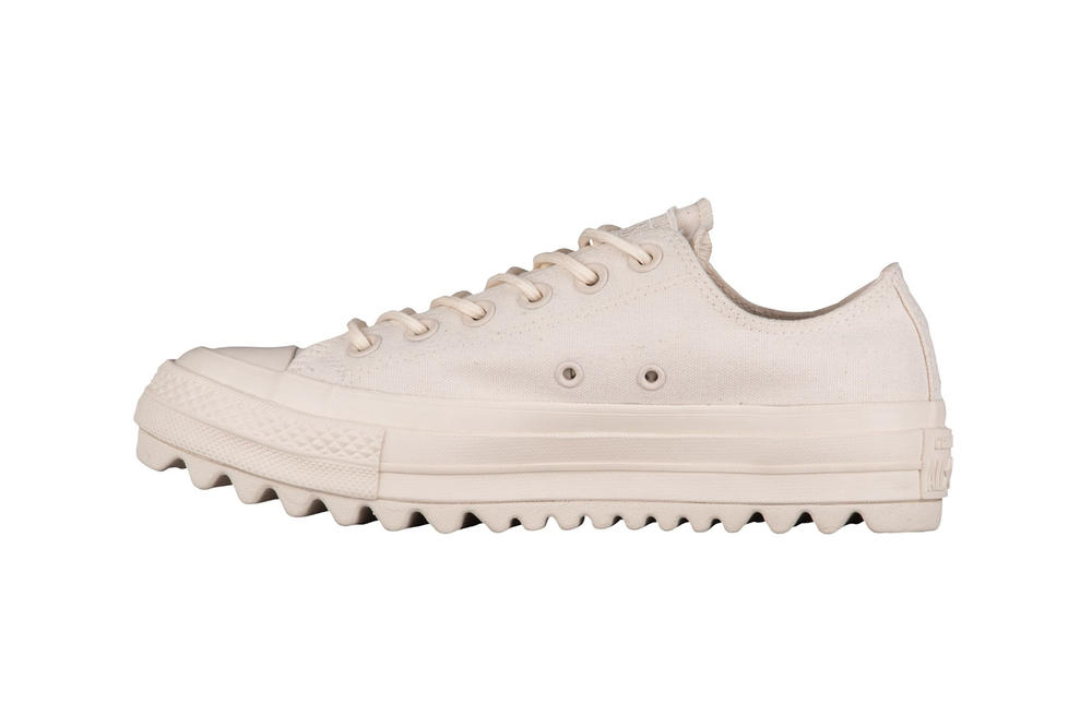 Converse Chuck Taylor All Star Lift Ripple Ox low top hi natural cream off white black canvas jagged sole platform where to buy minimal sneakers