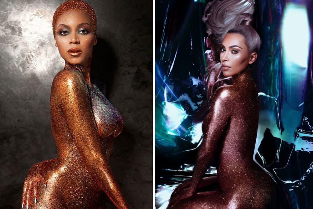 Beyonce Kim Kardashian Flaunt Magazine KKW Beauty Ultra Beams Highlighters