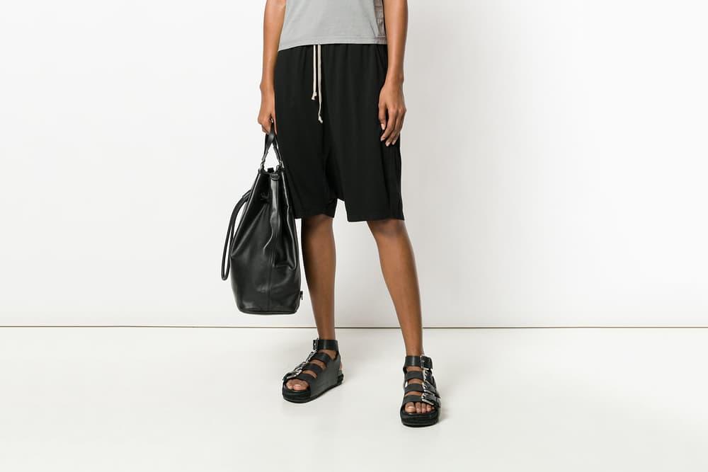 editors pick rick owens drkshdw drop crotch shorts