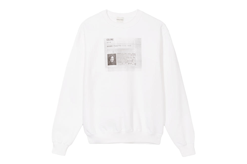 Emily Oberg Céline Phoebe Philo Sweater Crewneck Sweatshirt White Bio Japanese Sporty and Rich Price Release Where to Buy