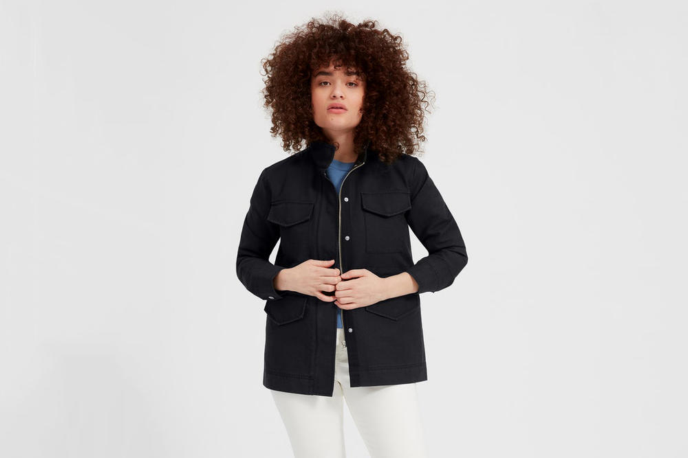 Everlane Modern Utility Jacket Washed Black