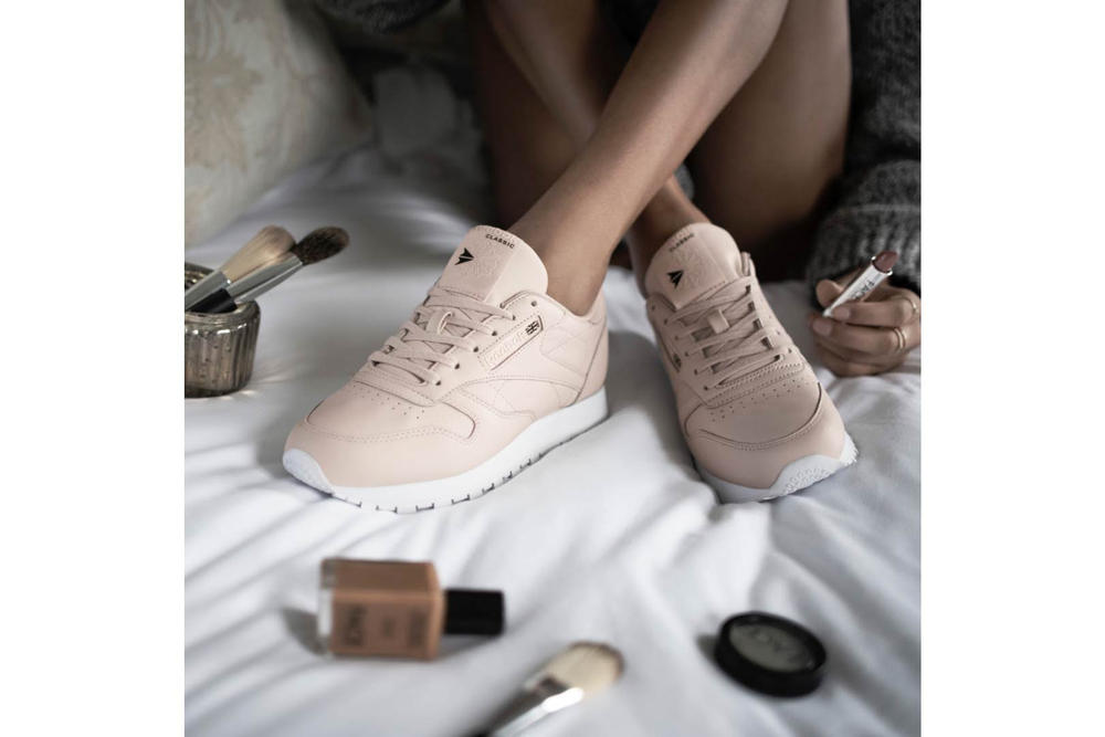 FACE Stockholm Reebok Classic Leather Muted Pink Lookbook