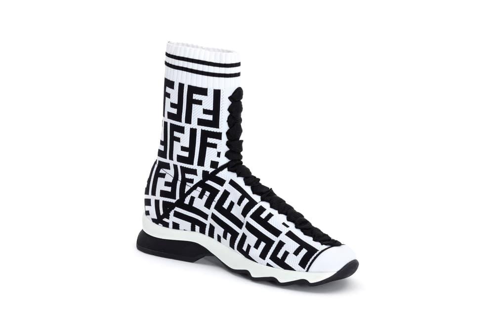 Fendi FF Logo Capsule Collection Rockoko Sneaker White Black